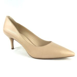 Nine West Margot Nude Heels Career Work Leather